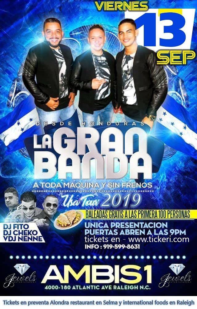 Flyer for La Gran Banda en Raleigh,NC