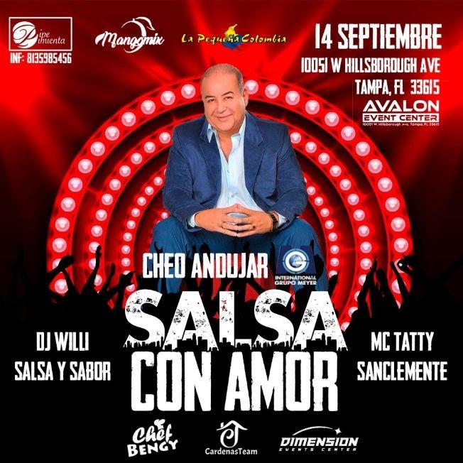Flyer for Salsa con Amor con Cheo Andujar