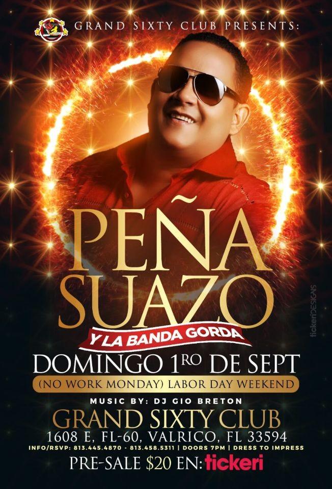 Flyer for Peña Suazo CANCELED