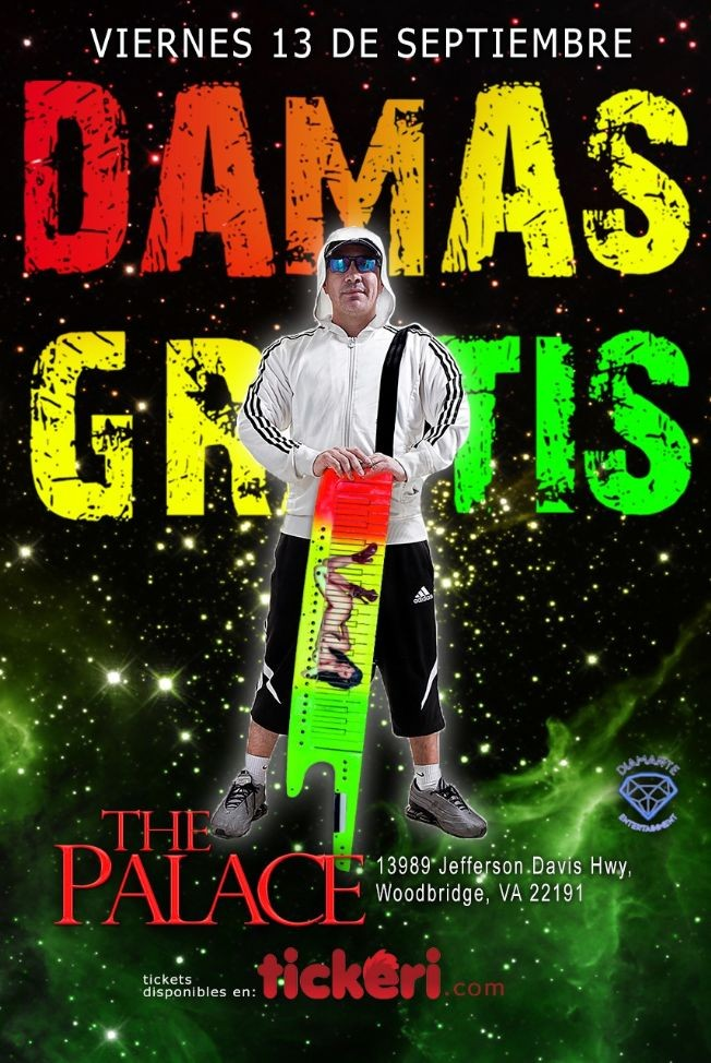 Flyer for DAMAS GRATIS EN VIRGINIA