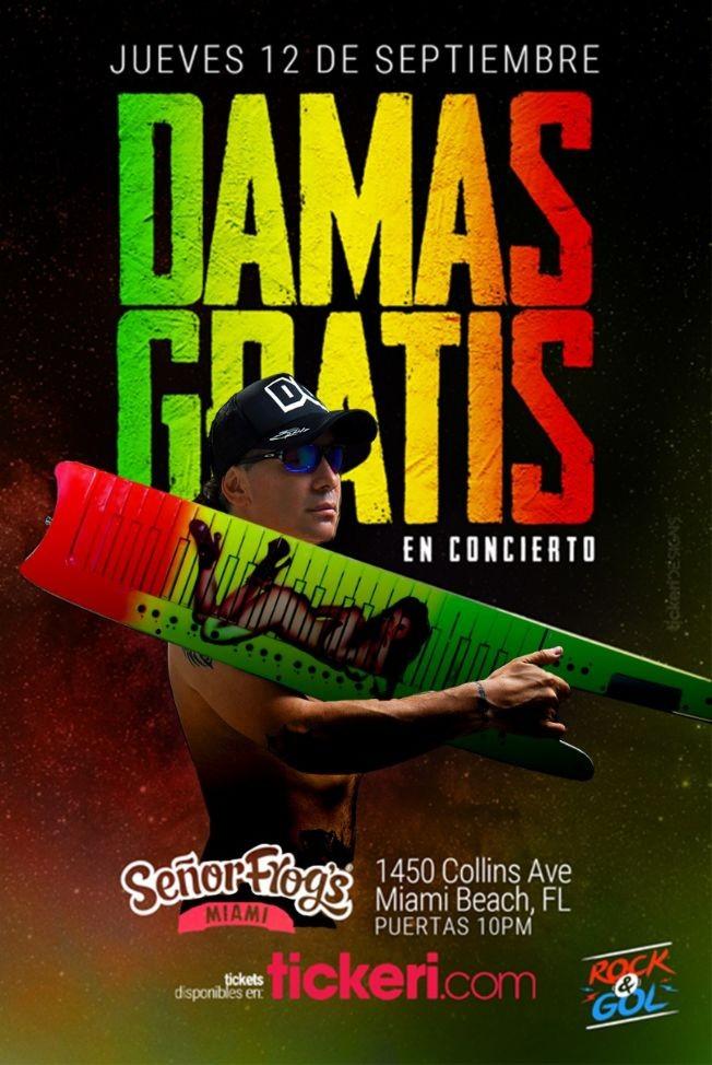 Flyer for DAMAS GRATIS EN MIAMI
