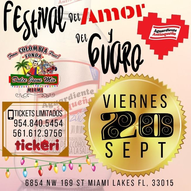 Flyer for FESTIVAL DEL AMOR Y DEL GUARO