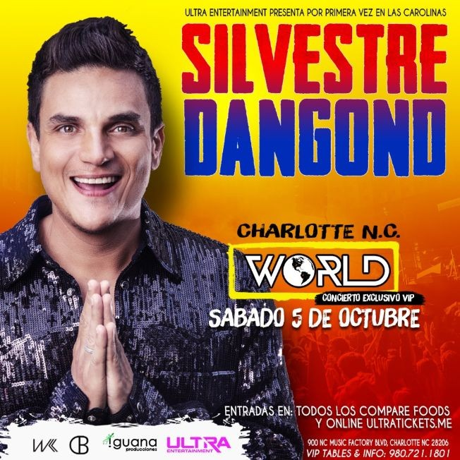 Flyer for Silvestre Dangond en Charlotte