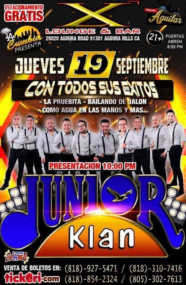 Flyer for Junior Klan en Agoura Hills,CA