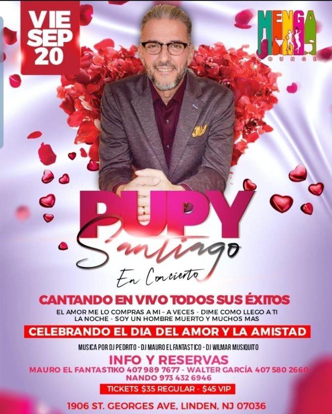 Flyer for Pupy Santiago En Concierto En Linden,NJ