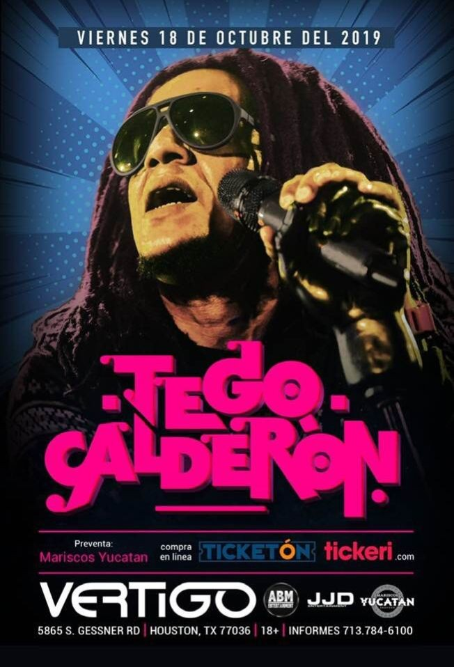 Flyer for TEGO CALDERÓN