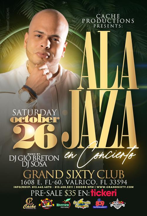 Flyer for Ala Jaza Live In Concert
