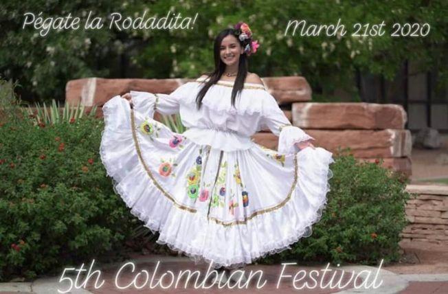 Flyer for 5Th Colombian Festival En Phoenix , Arizona POSTPONED
