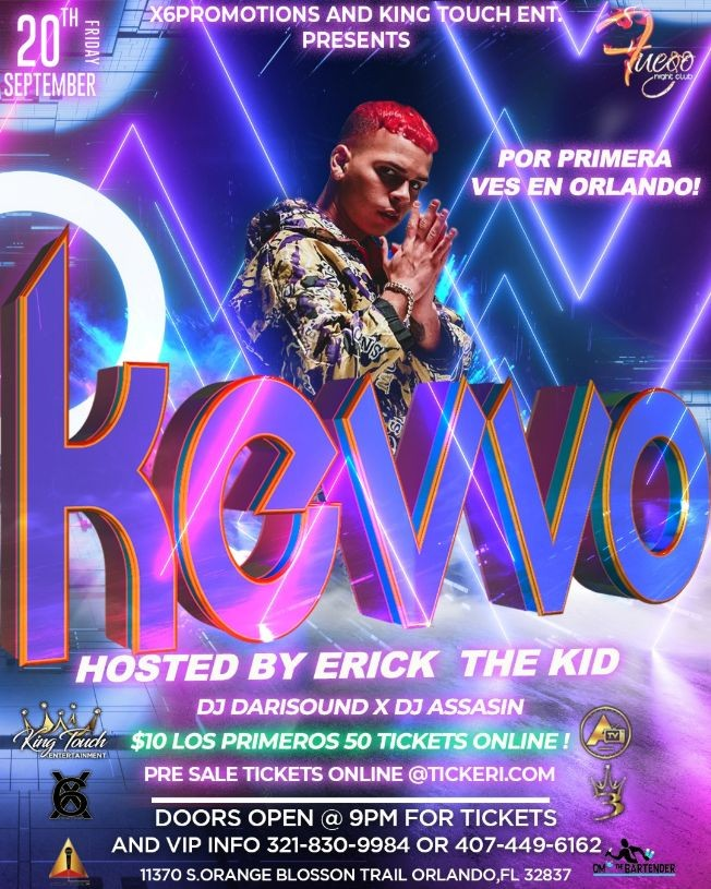 Flyer for Kevvo