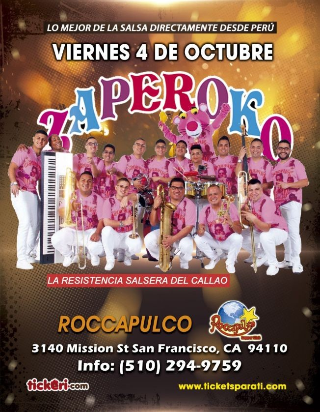 Flyer for ZAPEROKO LA RESISTENCIA SALSERA DEL CALLAO