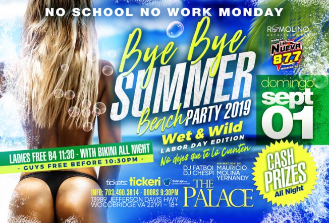 Flyer for FOAM PARTY!!!FOAM PARTY!!FOAM PARTY! BYE BYE SUMMER!!! EVERYONE FREE B4 10:30