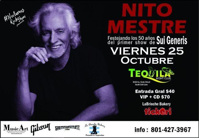 Flyer for NITO Mestre En UTAH -2da Vuelta- 50 Años de SUI GENERIS