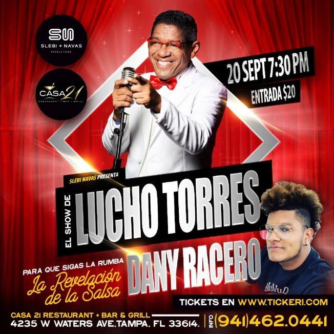 Flyer for LUCHO TORRES