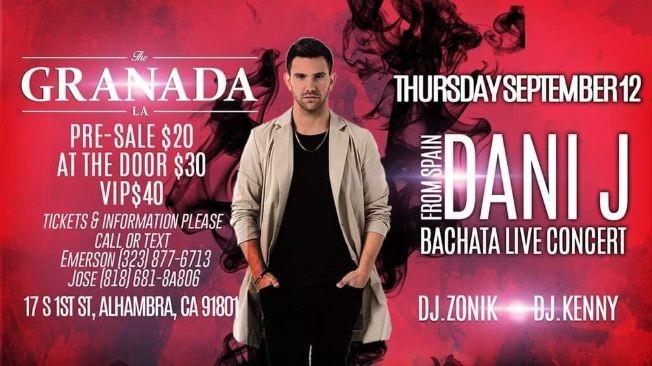 Flyer for DANI J & BKS PRE PARTY