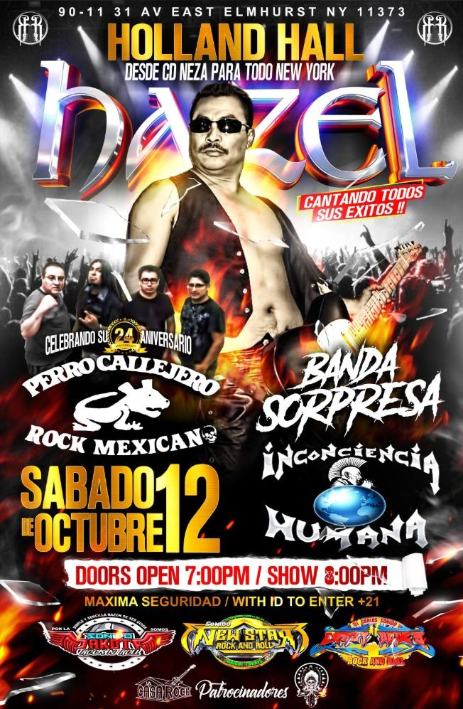 Flyer for Juntos Por el Rock and Roll