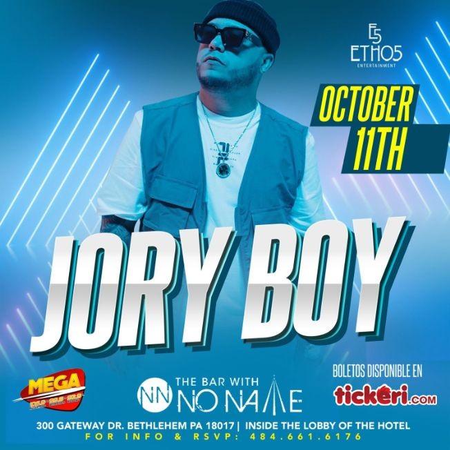 Flyer for Mega Tropical Fridays presents Jory Boy Live