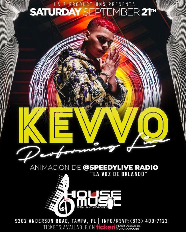 Flyer for KEVVO PERFORMING LIVE