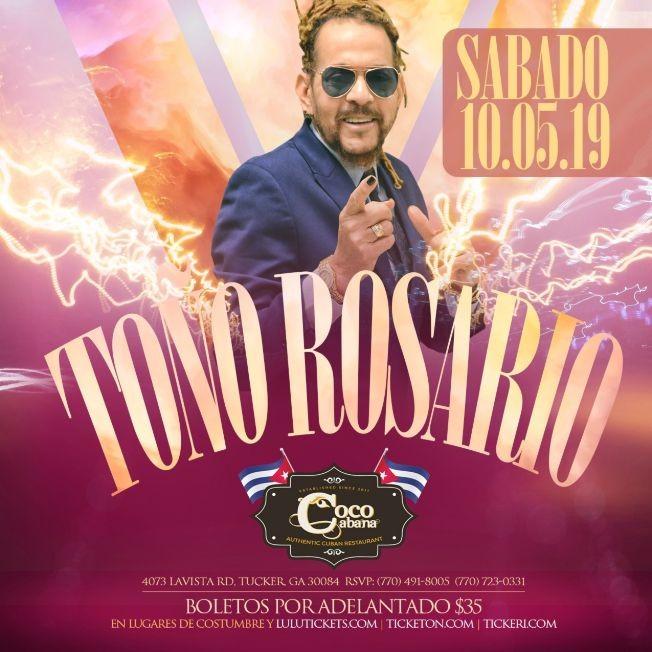 Flyer for TOÑO ROSARIO