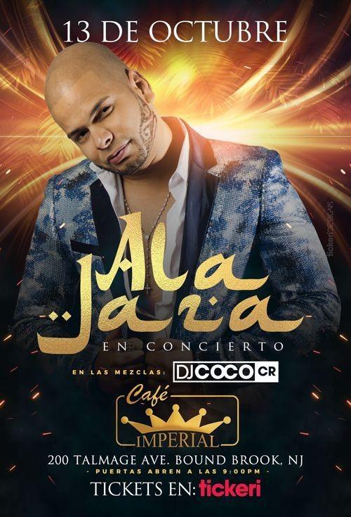 Flyer for ALA JAZA EN NEW JERSEY