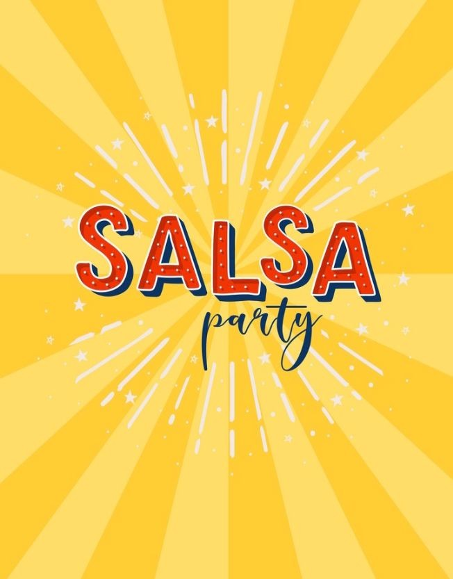 Flyer for Salsa Dancing Party