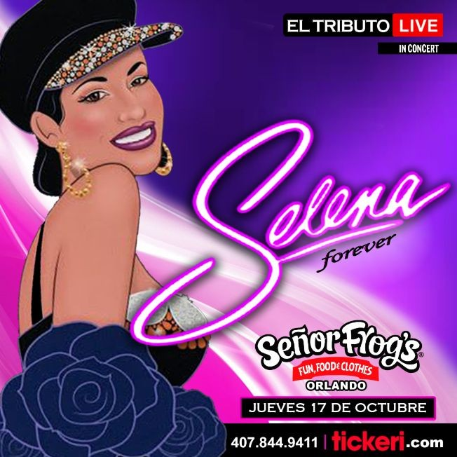 "Flyer for SELENA ""Forever""  EL TRIBUTO"