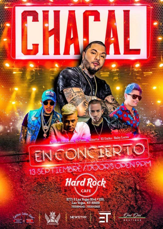 Flyer for Chacal En Concierto En Las Vegas,NV
