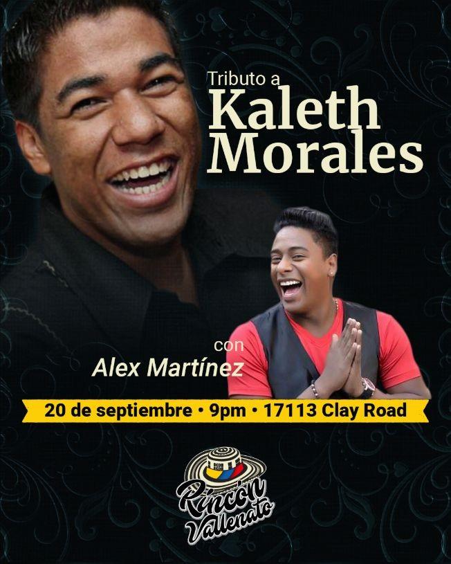 Flyer for Tributo a Kaleth Morales con Alex Martínez