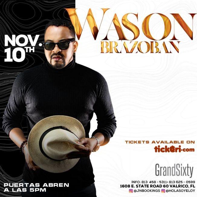 Flyer for Wason Brazoban Live In Concert