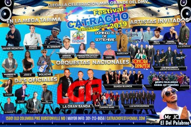 Flyer for FESTIVAL CATRACHO 2019 MARYLAND