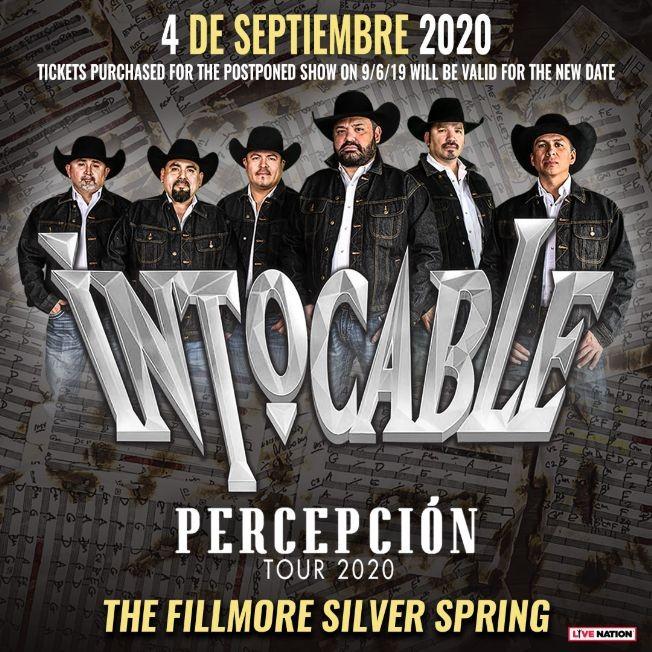 Flyer for Intocable en Concierto