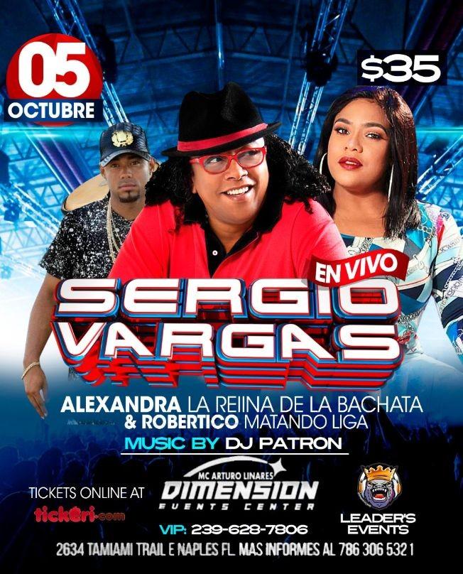 Flyer for Sergio Vargas y Alexandra Del Grupo Monchy Y Alexandra