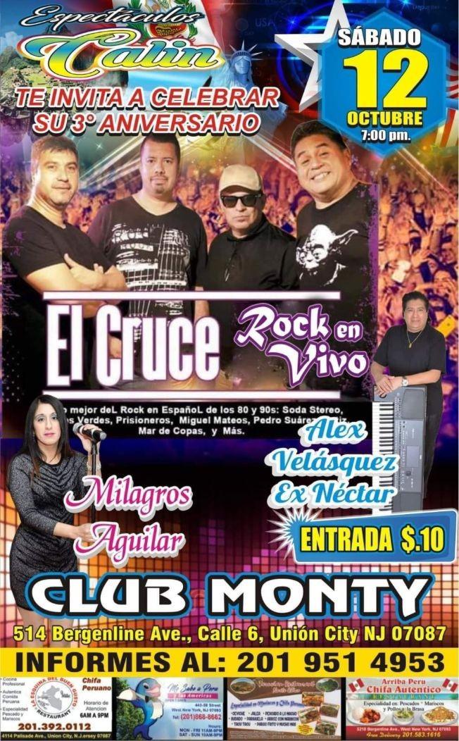 Flyer for El Cruce Rock En Vivo En Union City,NJ