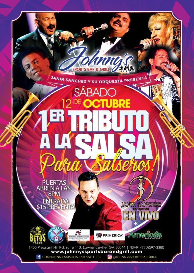 "Flyer for ""Tributo a la Salsa para Salseros"""