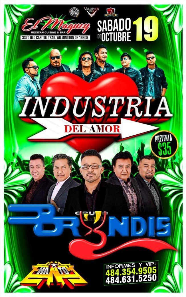 Flyer for Maguey : Bryndis y Industria del Amor