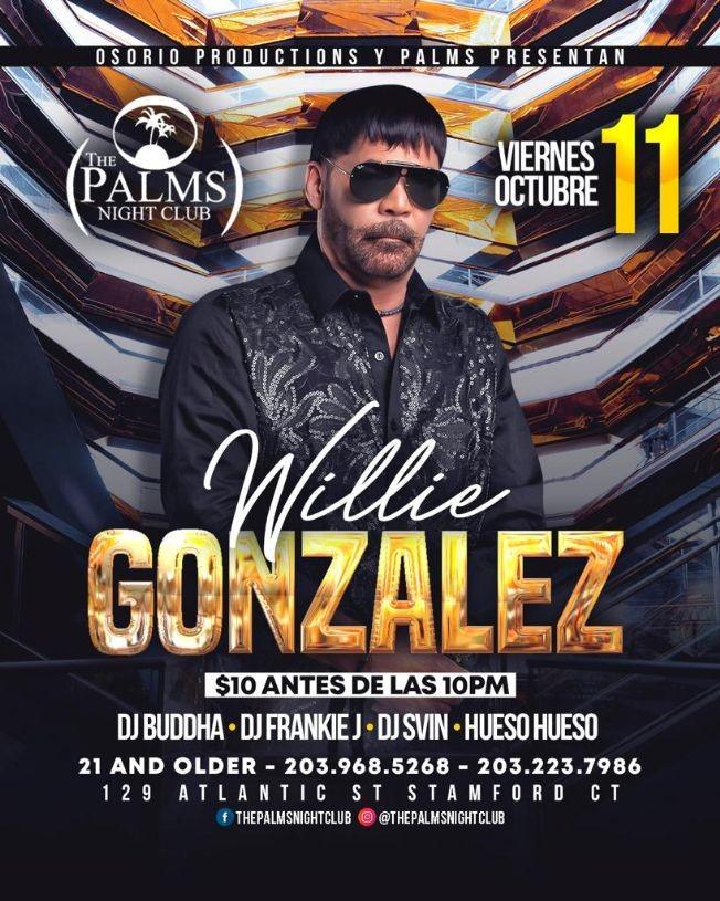 Flyer for Willie Gonzalez En Concierto En Stamford,CT