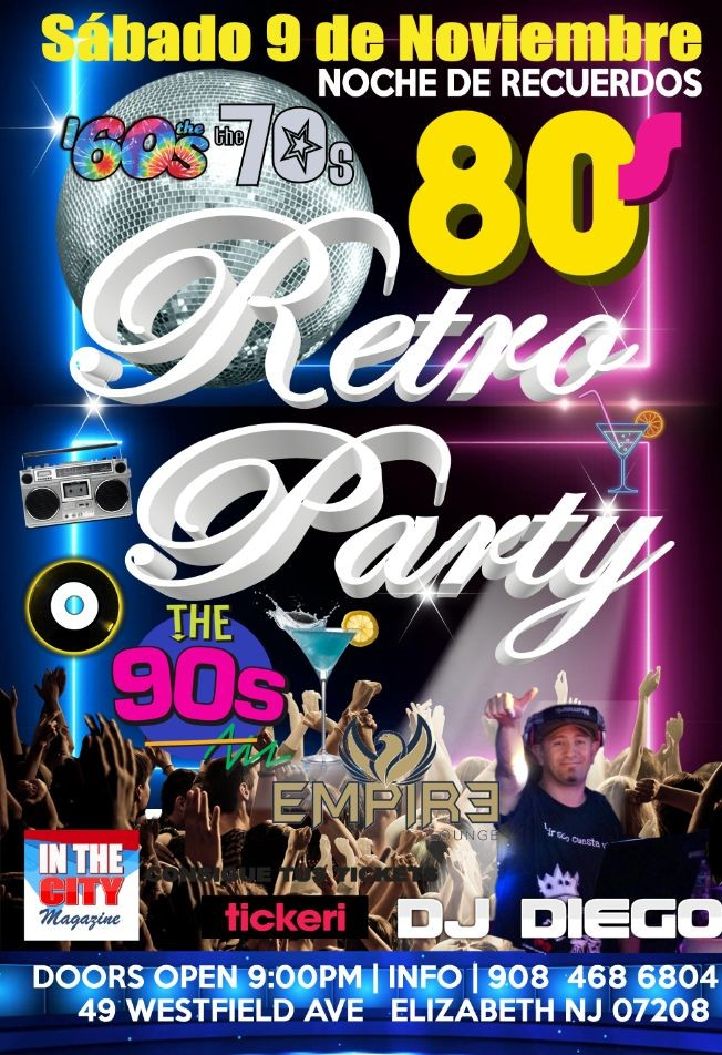 Flyer for Retro Party. Noche de Recuerdos
