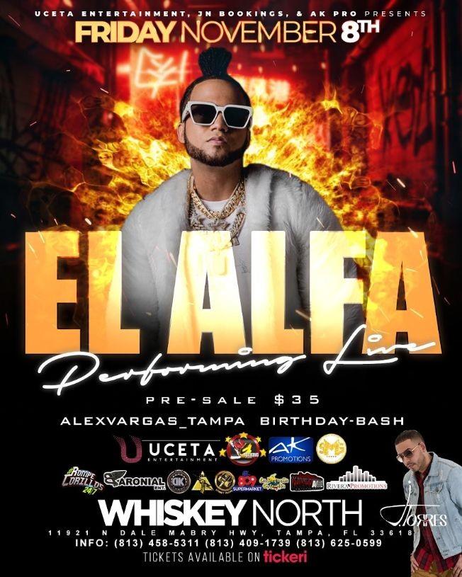 Flyer for El Alfa en Tampa,FL