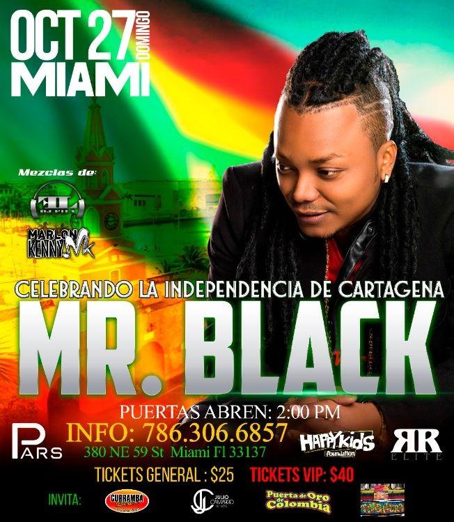 Flyer for Mr Black En Concierto En Miami,FL