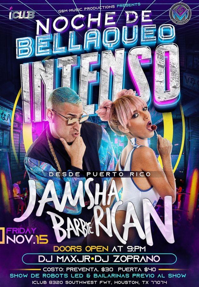Flyer for Jamsha & Barbie Rican