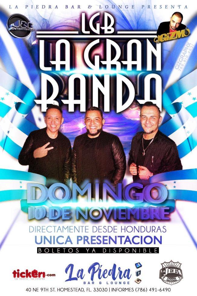 Flyer for La Gran Banda En Vivo Desde Honduras