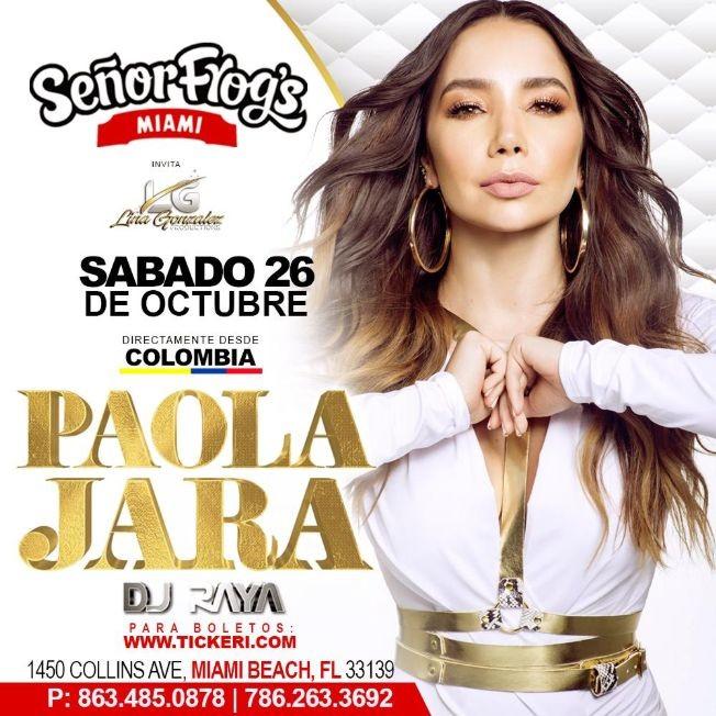 Flyer for Paola Jara en Miami
