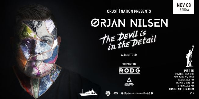Flyer for Trance Music Boat Party Yacht Cruise NYC: Orjan Nilsen
