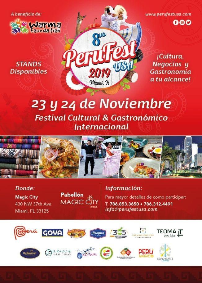 Flyer for Peru Fest Usa 2019 Sabado