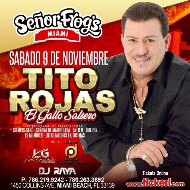 Flyer for Tito Rojas en Miami