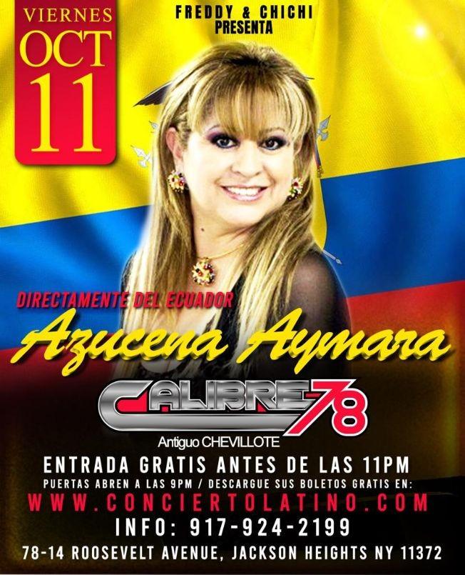 Flyer for Azucena Aymara EN Concierto Bailable