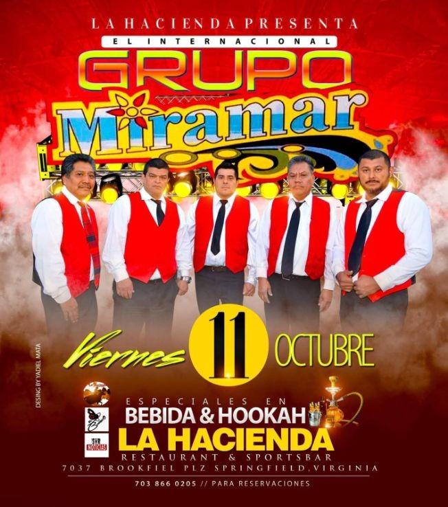 Flyer for Grupo Miramar en Springfield,VA
