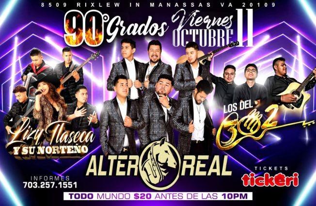 Flyer for Alter Real, Los del 302 y Lizy Talserca