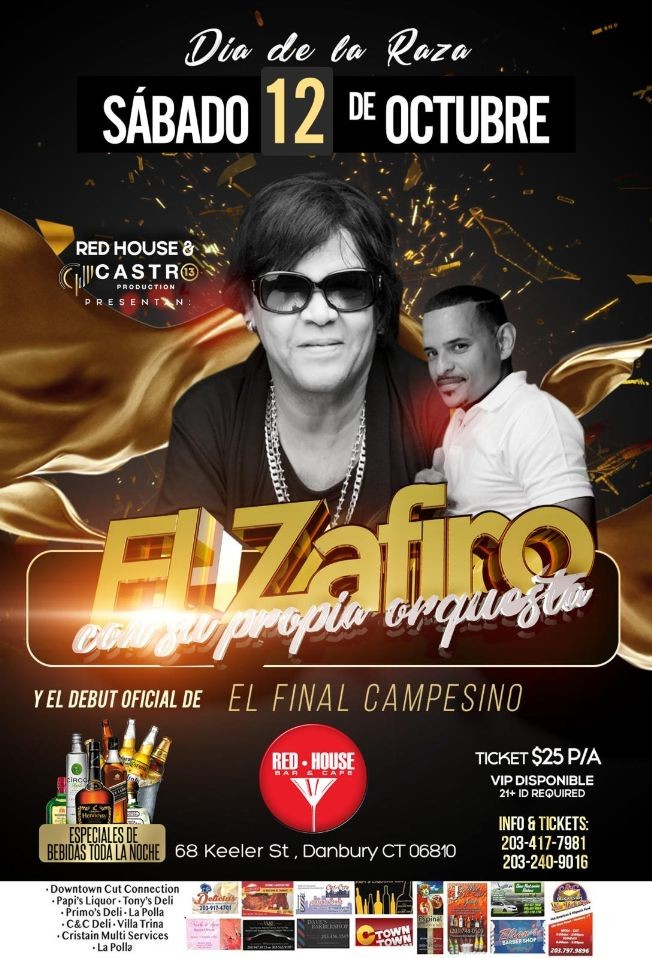 Flyer for ZAFIRO & DEBUT DE EL CAMPESINO