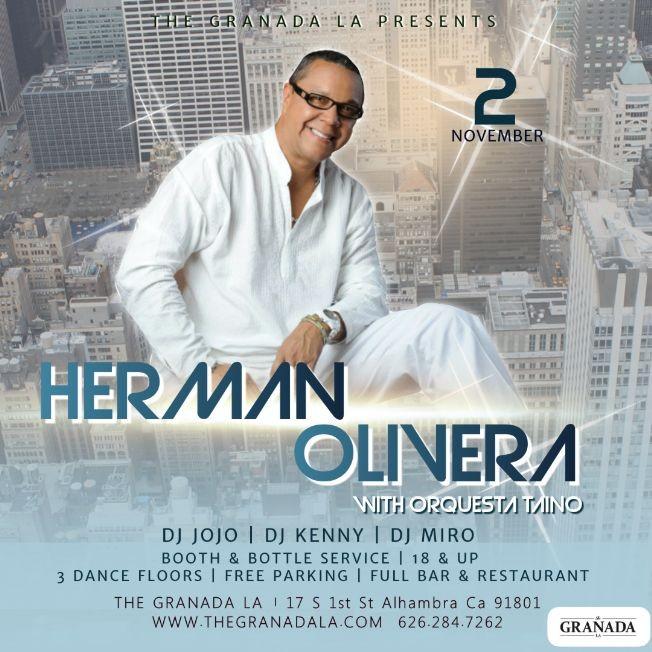 Flyer for Herman Olivera Live Salsa Concert