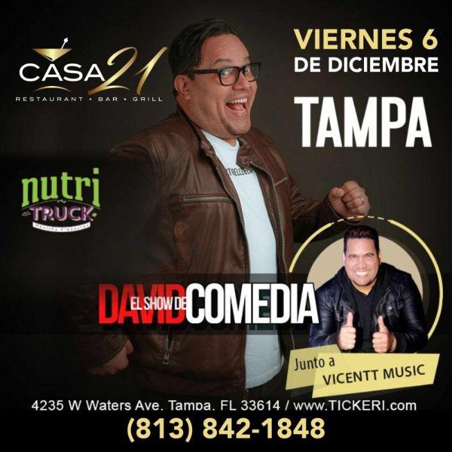 Flyer for David Comedia en Tampa,FL